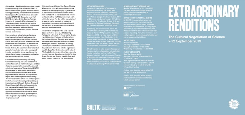 Extraordinary Renditions: The Cultural Negotiation of Science: Exhibition Guide