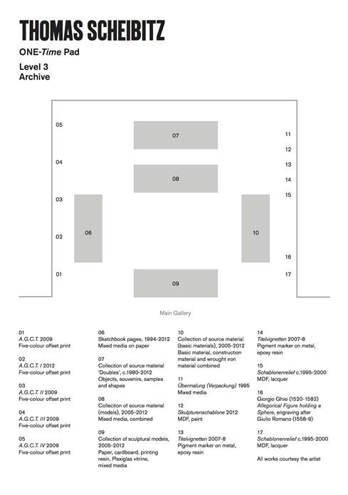 Thomas Scheibitz: ONE-Time Pad: Floor Plan Level 3