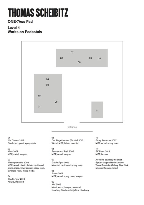 Thomas Scheibitz: ONE-Time Pad: Floor Plan Level 4