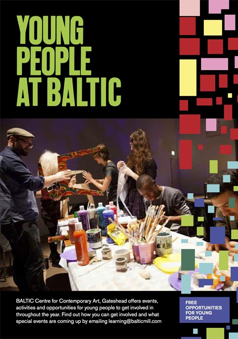 Young People at BALTIC: 2013: A5 Flyer