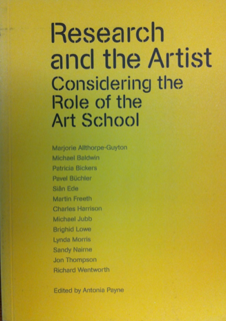 Research and the artist: considering the role of the art school