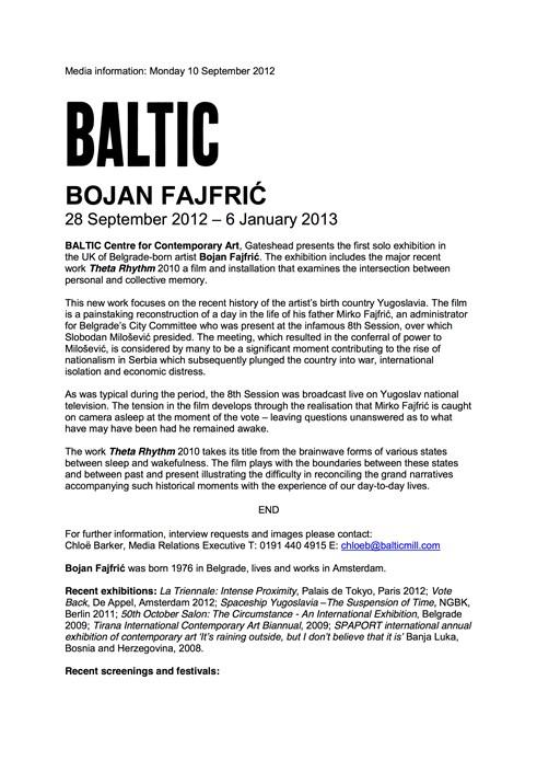 Bojan Fajfrić: Theta Rhythm