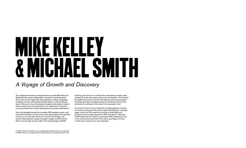 Mike Kelley and Michael Smith: A Voyage of Growth and Discovery: Vinyl Wall Text
