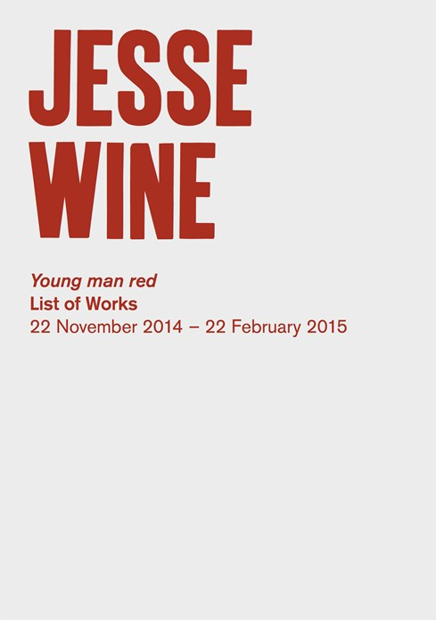 Jesse Wine: Young man red: List of works
