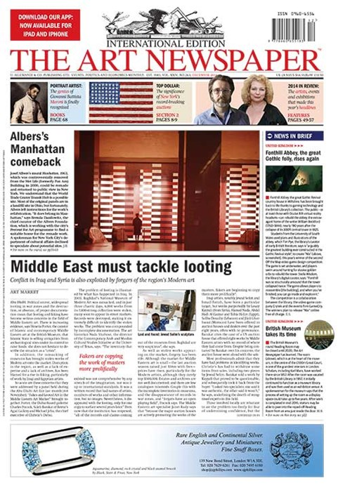 Art Newspaper, Vol. XXIV, No. 263, December 2014