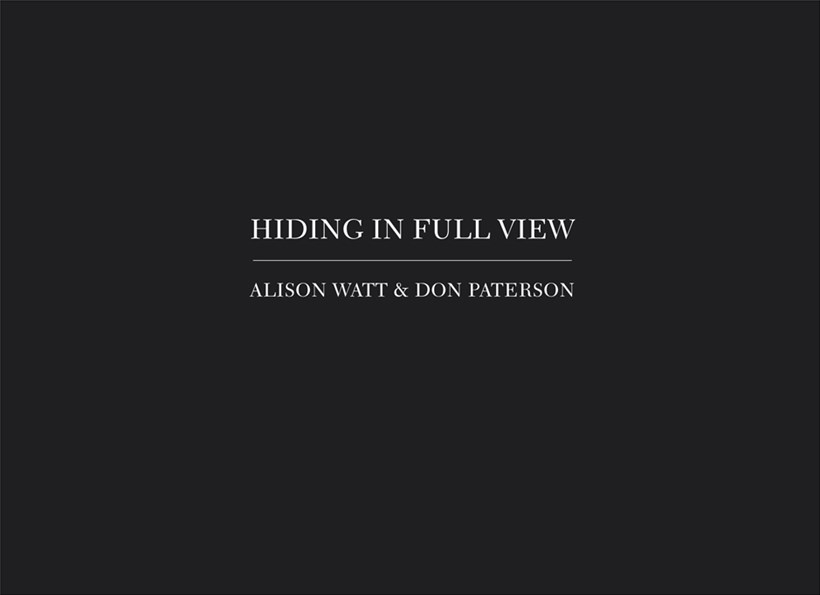Alison Watt & Don Paterson: Hiding in Full View