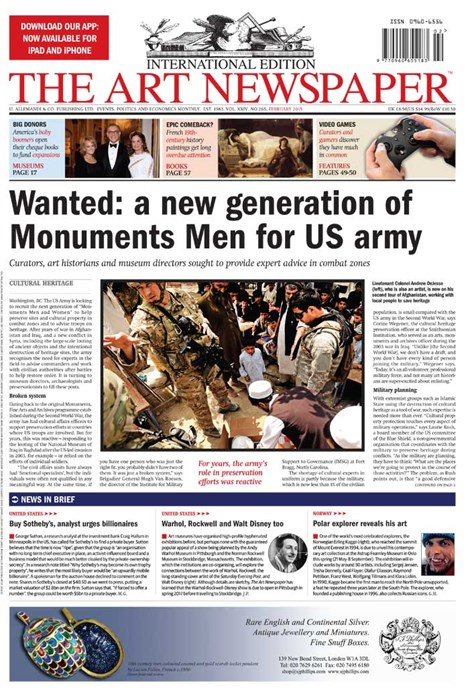 Art Newspaper, Vol. XXIV, No. 265, February 2015