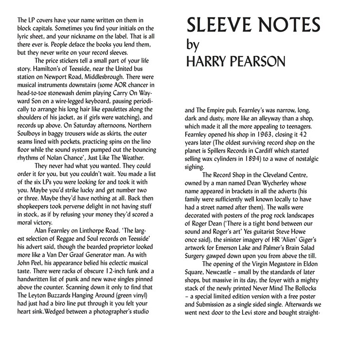 Sleeve Notes by Harry Pearson