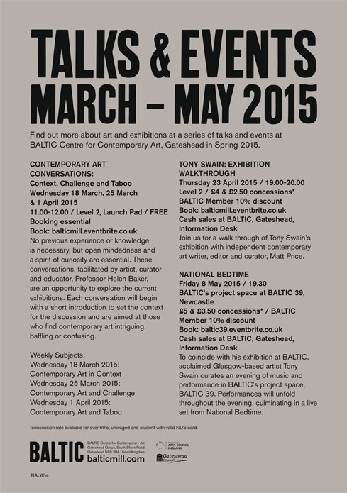 Talks and Events: March – May 2015: A5 flyer