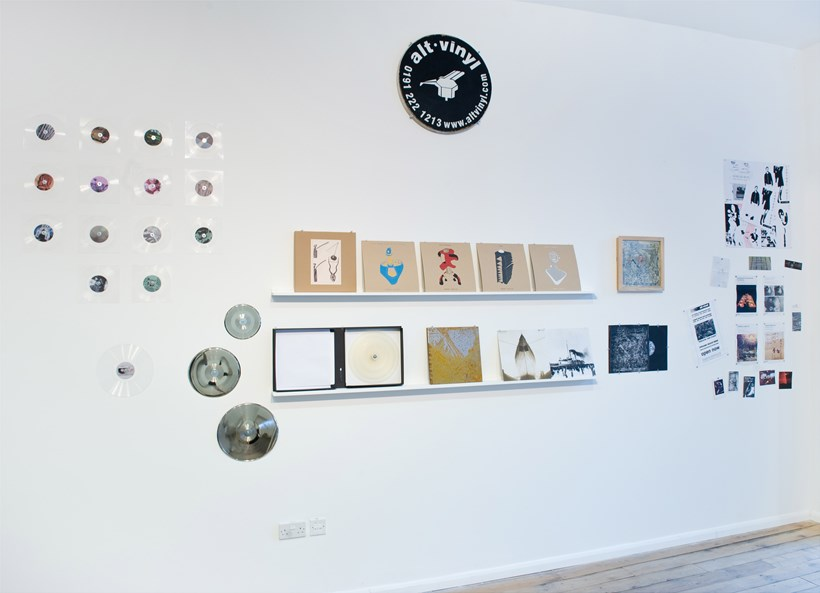 The Curves of the Needle: alt.vinyl (Installation View)