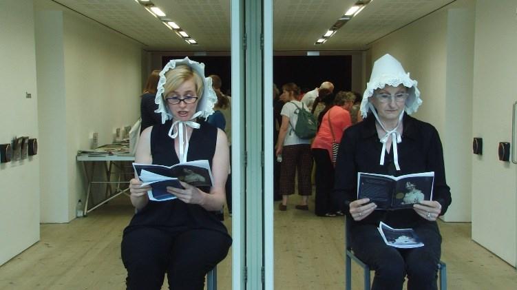 Artists' Book Market: Performance: Book-Ends, Sylvia Causer & Andrea Freeman