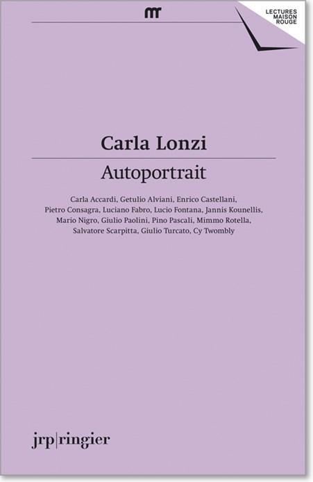 Carla Lonzi: Autoportrait