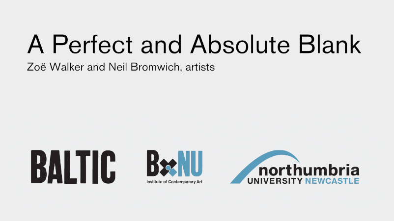 BxNU SYMPOSIUM: A Perfect and Absolute Blank (03): Walker and Bromwich