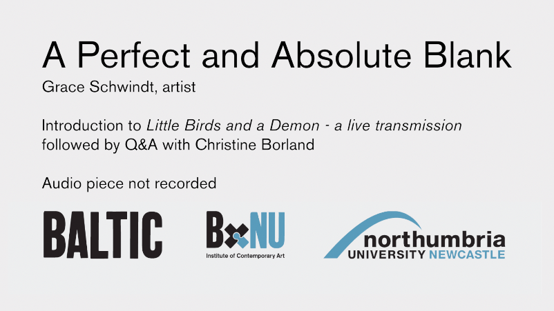 BxNU SYMPOSIUM: A Perfect and Absolute Blank (05): Grace Schwindt