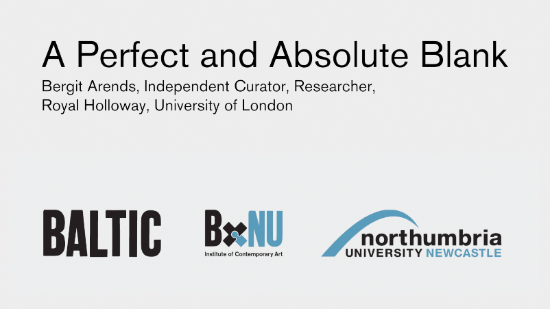BxNU SYMPOSIUM: A Perfect and Absolute Blank (07): Bergit Arends