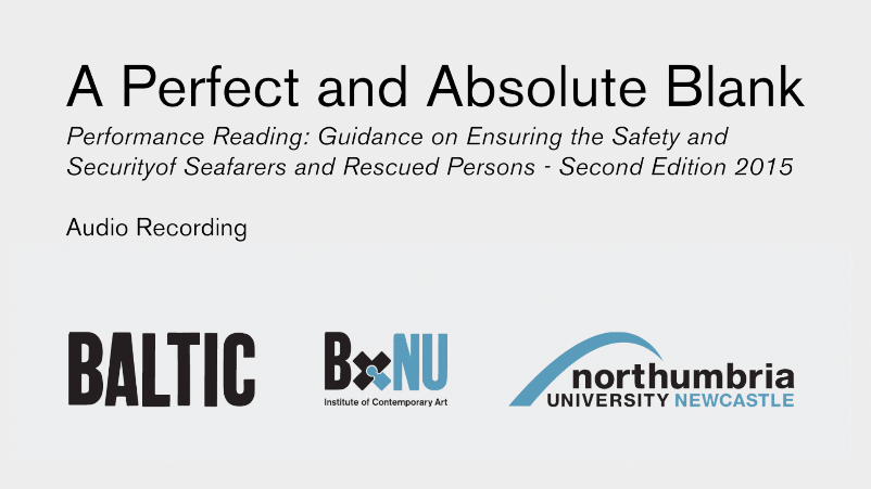 BxNU SYMPOSIUM: A Perfect and Absolute Blank (10): Guidance on Ensuring the Safety and Security of Seafarers and Rescued Persons - Second Edition 2015