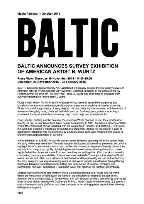 B. Wurtz: Press Release