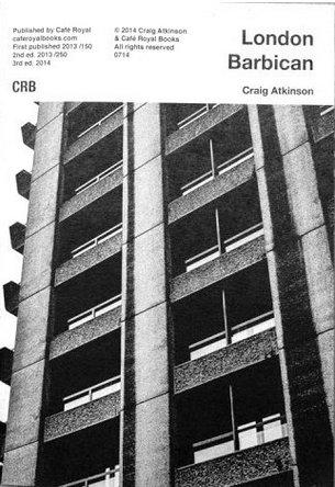 Craig Atkinson: London, Barbican