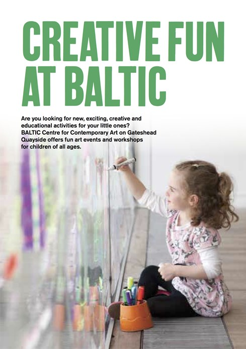 Creative Fun at BALTIC: Leaflet