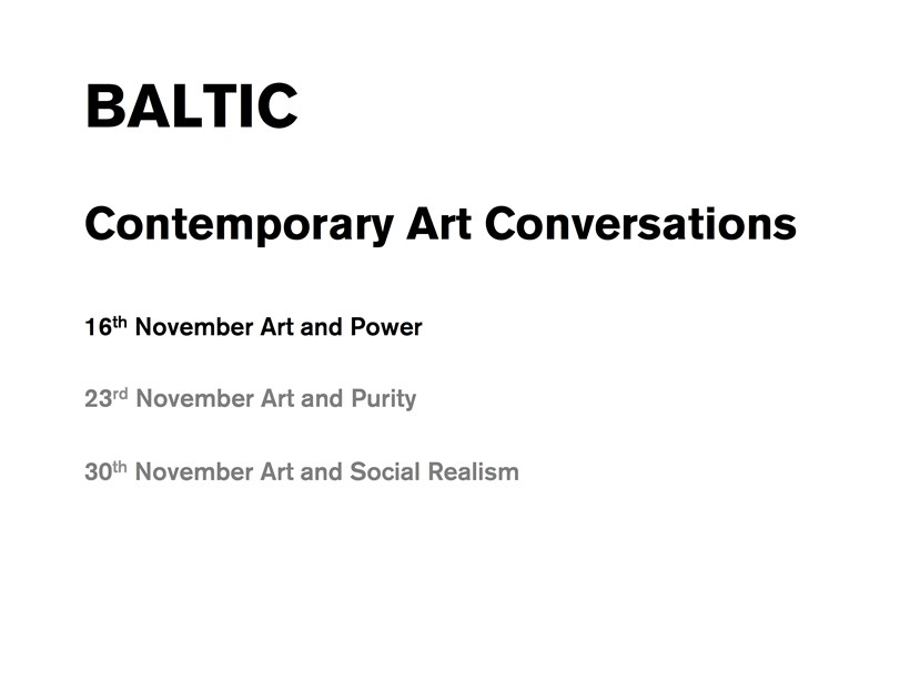Contemporary Art Conversations: Power (presentation)