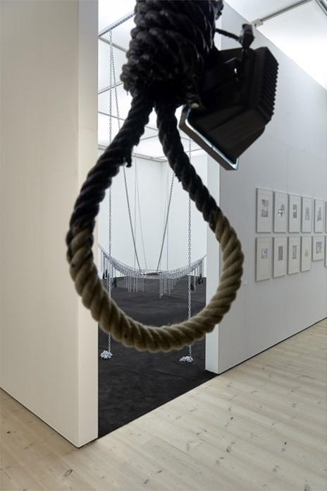 Monica Bonvicini That Hangs and Chain Leather Swing
