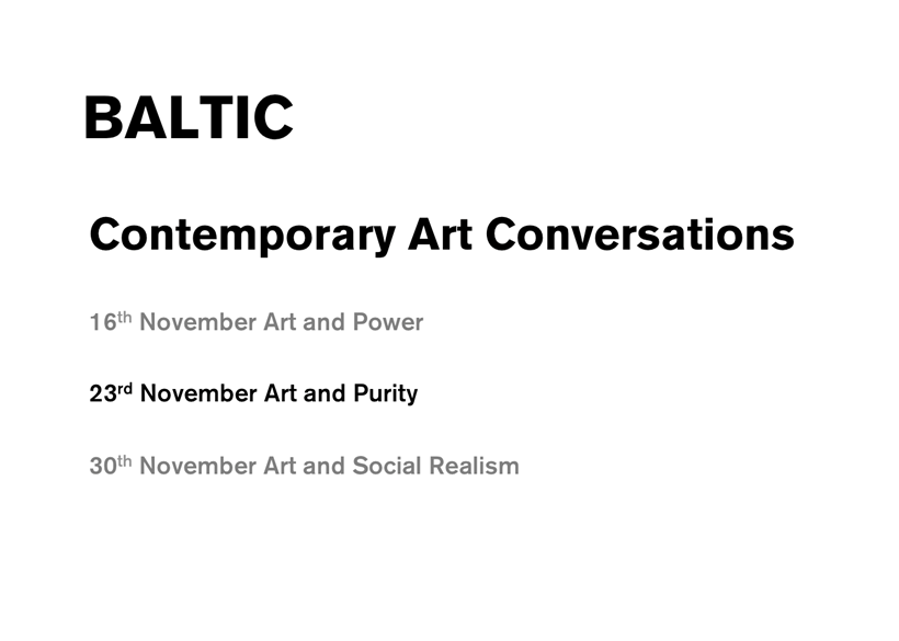 Contemporary Art Conversations: Purity (presentation)