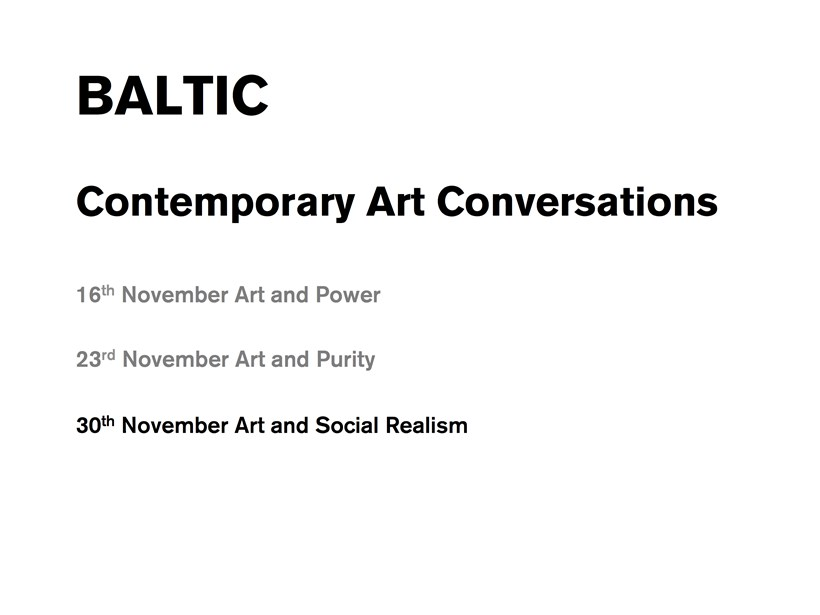 Contemporary Art Conversations: Social Realism (presentation)