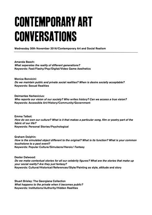 Contemporary Art Conversations: Social Realism (handout)