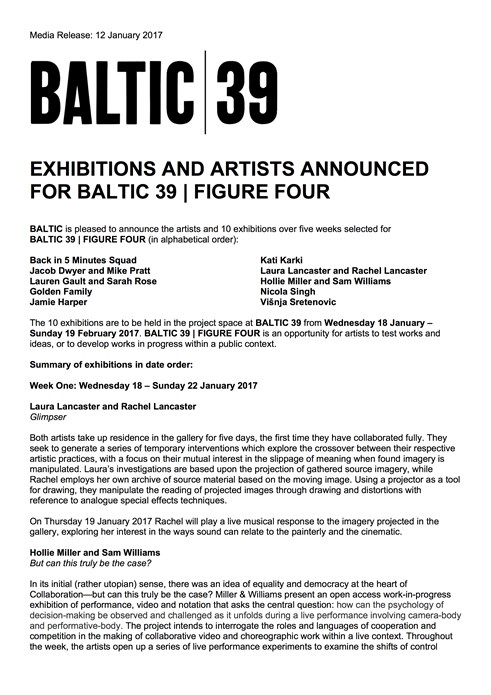 BALTIC 39 | FIGURE FOUR: Press Release