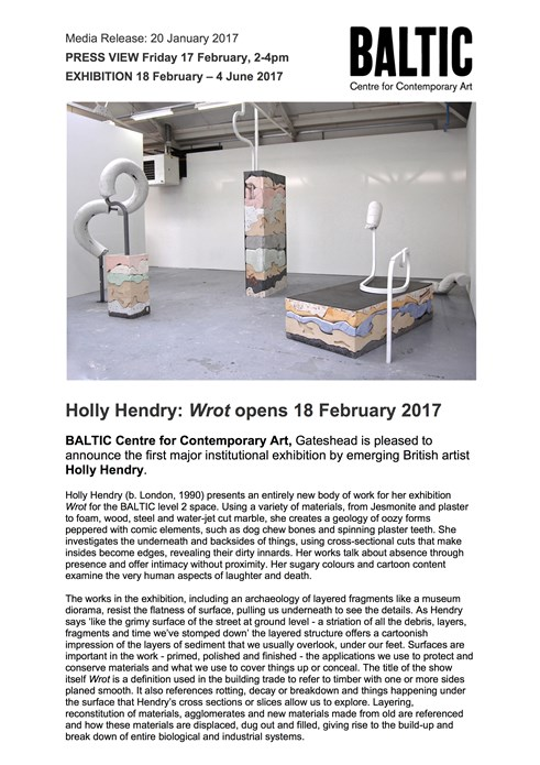 Holly Hendry: Press Release
