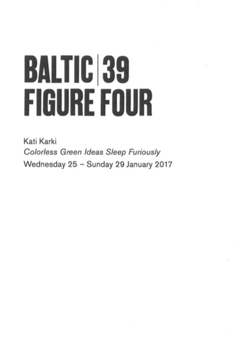 BALTIC 39 | FIGURE FOUR - Week 2: Kati Karki