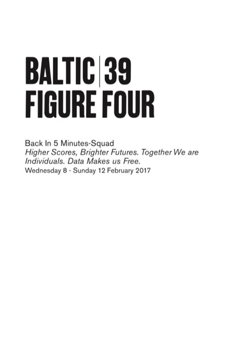 BALTIC 39 | FIGURE FOUR: Week 4: Back in Five Minutes Squad