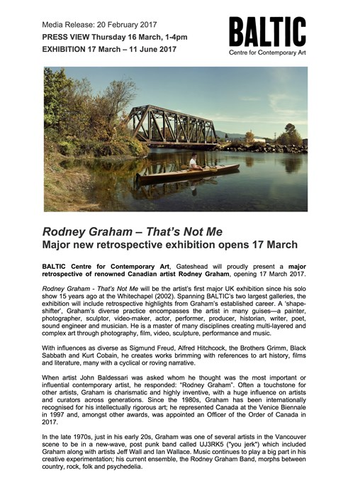 Rodney Graham: Press Release