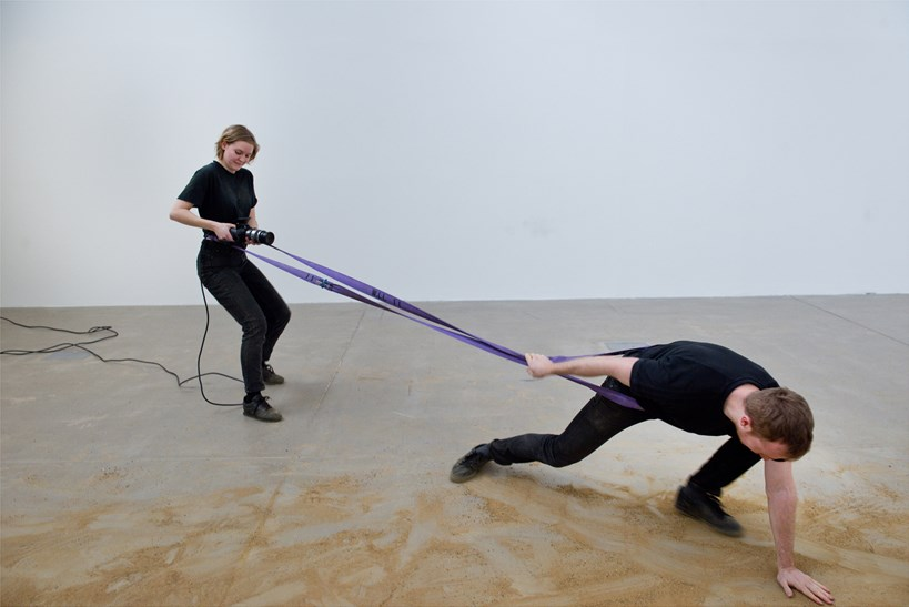 FIGURE FOUR - Week 1: Hollie Miller and Sam Williams: Installation view (01)