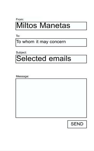 Miltos Manetas: Selected emails