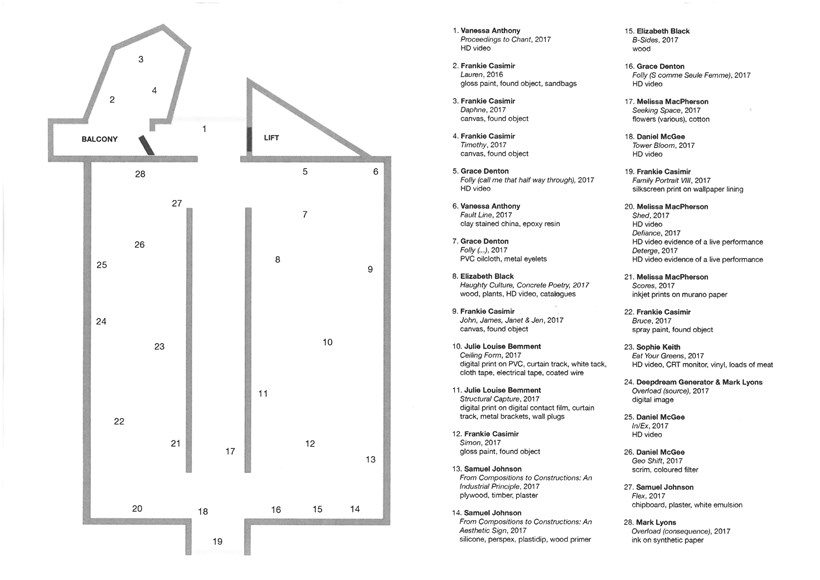 BxNU MFA | Graduate Exhibition: I Remember Most What Never Happened: Floor Plan