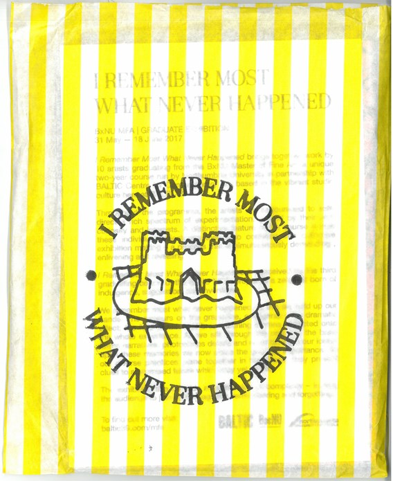 BxNU MFA | Graduate Exhibition: I Remember Most What Never Happened: Postcard Pack