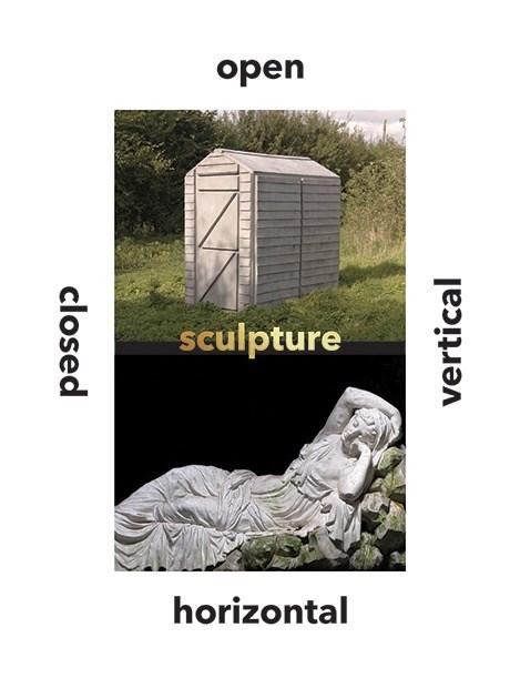 Sculpture Vertical, Horizontal, Closed, Open