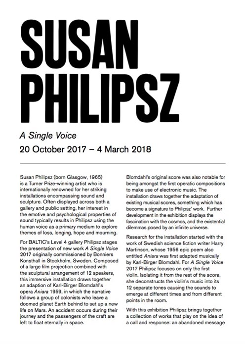 Susan Philipsz: Interpretation Guide