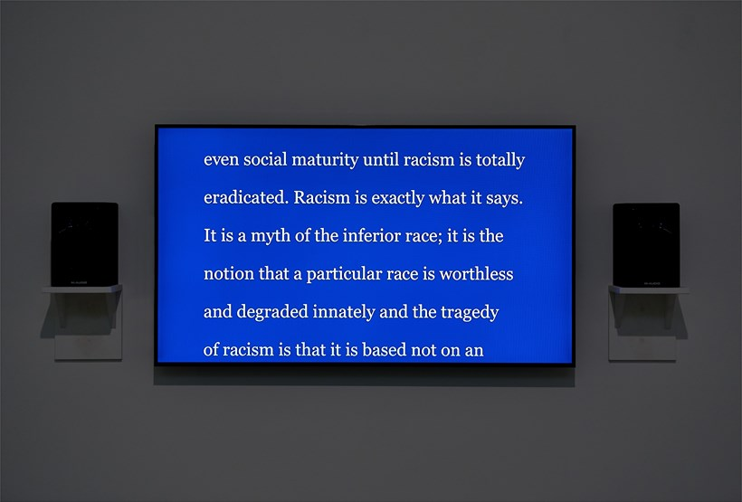 Charles Gaines Manifestos 3: MLK (1967) - Starless Midnight: Installation View (19)