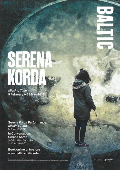 Serena Korda: Missing Time: Events Leaflet