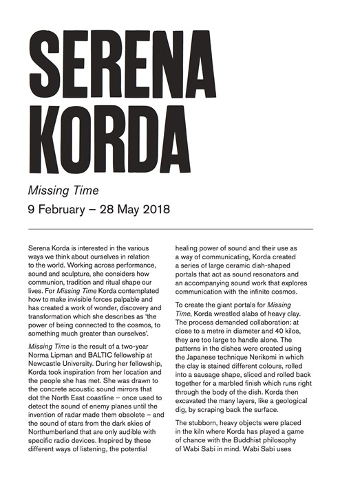 Serena Korda: Missing Time: Interpretation Guide