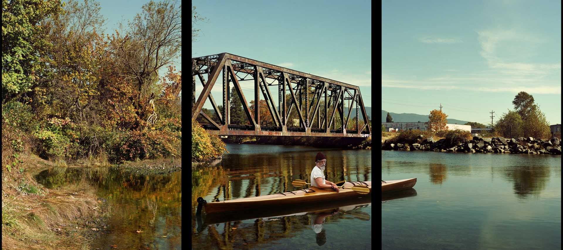 Rodney Graham: Paddler, Mouth of the Seymour (2012-13)