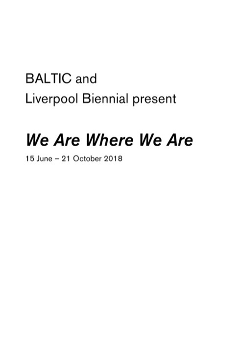 We Are Where We Are: Exhibition Guide