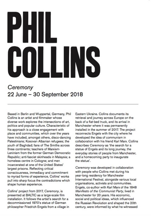 Phil Collins: Ceremony: Interpretation Guide