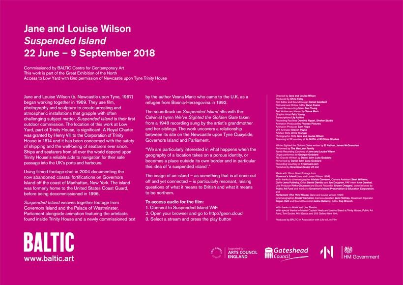 Jane and Louise Wilson: Suspended Island: Interpretation Panel