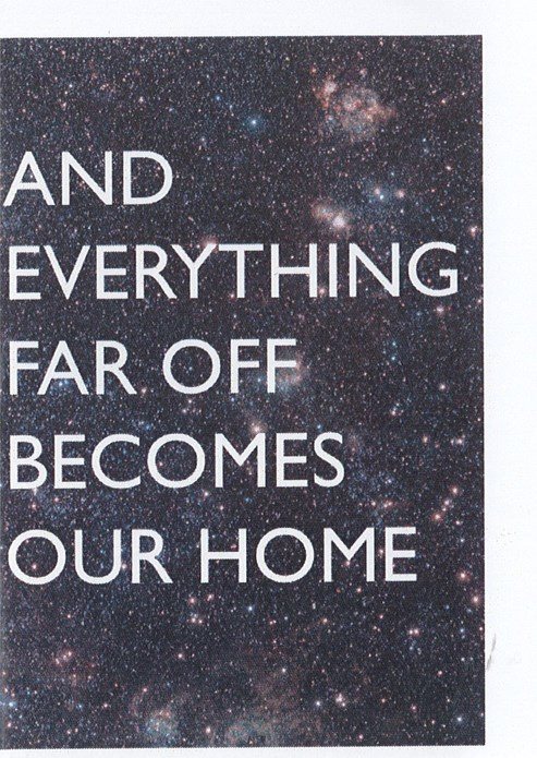 BxNU Respond: Aloe Corry and Ciara Lenihan: And Everything Far Off Becomes Our Home: Leaflet