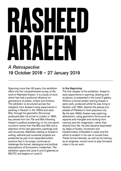 Rasheed Araeen: A Retrospective: Interpretation Guide