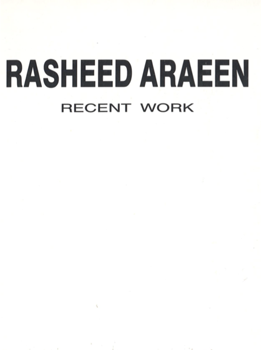 Rasheed Araeen: Recent Work