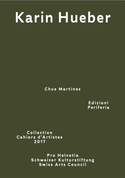 Karin Hueber (Collection Cahiers d'Artistes 2017)